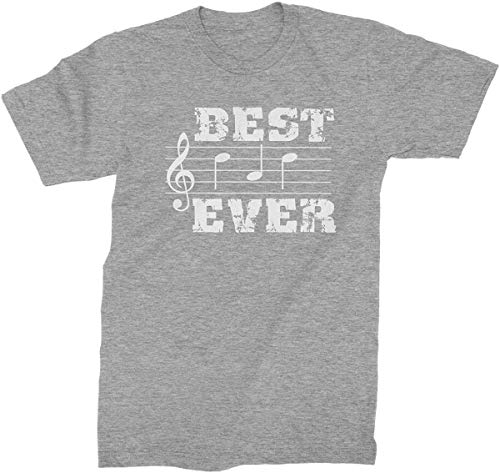 Divertido gráfico de verano notas musicales Best Dad Everer para hombre camiseta de moda elegante camisa Gris gris M
