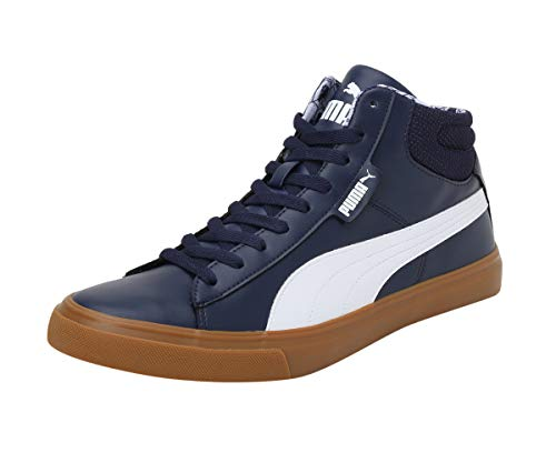 Puma Men CORE Grip Mid IDP Navy Blue Casual Shoes