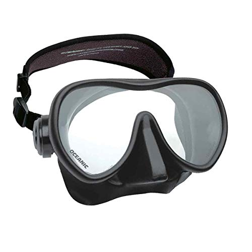Oceanic Shadow Frameless Dive Mask, (Great for Scuba Diving and Snorkeling) (Shadow, All Black)