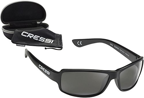 Cressi Ninja Floating - Gafas Flotantes Polarizadas para Deportes con una protección 100% UV Adultos Unisex, Negro/Negro Brillantes