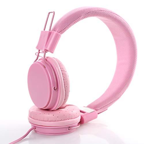 Headset rood geel koptelefoon kabelgebonden mobiele telefoon tablet pc eengat universele headset jongens en meisjes null roze