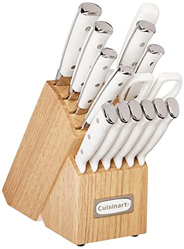 Cuisinart C77WTR-15P Classic Forged Triple Rivet, 15 Piece Set, White