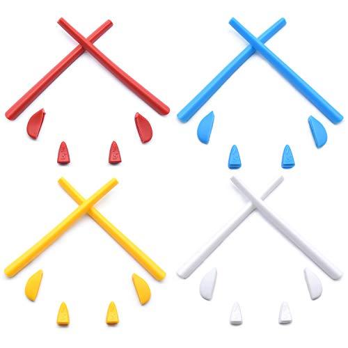HKUCO Rojo/Azul/Amarillo/Blanco Juego de patas de silicona de repuesto para Oakley Romeo 2.0 Gafas de sol Kit de goma
