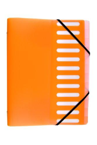 Idena 376085 - Ordnungsmappe DIN A4, mit 12er Register, orange