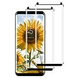 PUUDUU Protector de Pantalla para Samsung Galaxy S8 Plus, Cristal Templado para Samsung Galaxy S8 Plus, Vidrio Templado, 3D Cobertura Completa, Sin Burbujas, Anti-Rasguños - [2 Piezas]