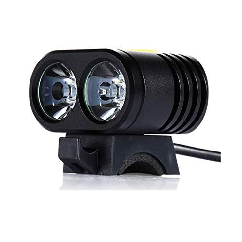 BIKEX Mini T6 fiets voorlamp LED, outdoor lamp IP65 waterdicht mountainbike accessoires, super heldere stekker opladen koplamp, nachtfiets verlichting (zwart)