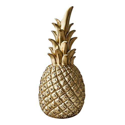 moderno resina ananas a forma di regalo regalo decorazione desktop di casa decorazione di nozze (d'oro, piccolo)