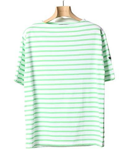[セントジェームス]SAINT JAMES/セント ジェームス PIRIAC ボーダーTシャツ S グリーン