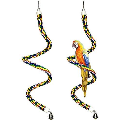 Percas De Cuerda para Pájaros, NALCY 2 pcs Perca de Cuerda en...