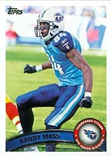 Randy Moss Football Card (Tennessee Titans) 2011 Topps #258