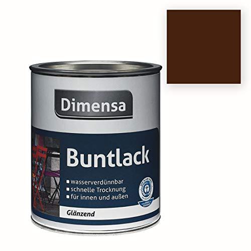 Acryl-Buntlack braun dunkelbraun glänzend | Buntlack für innen & außen Schokoladenbraun RAL 8017 | 125 ml