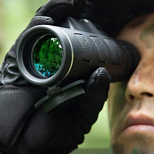 FANG 40x60 Telescopio monocular Portátil con Soporte para Smartphone y trípode - monocular Resistente al Agua Prisma BAK4 para observación de pájaros, Caza, Camping, Viajes, Vida Silvestre
