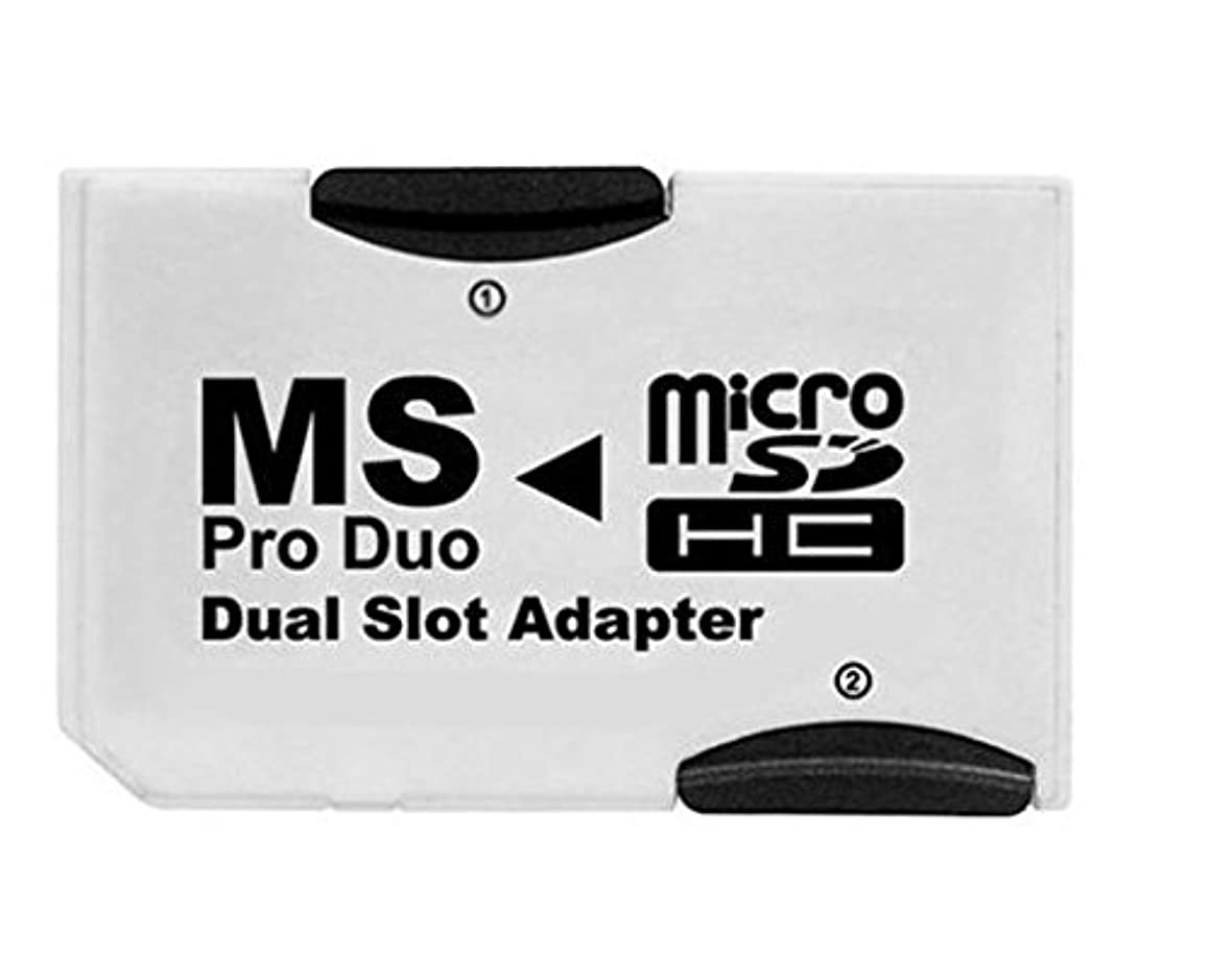 BR & TD Dual Slot Micro SD/SDHC to Memory Stick Pro Duo Adapter white