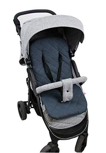 BABYLUX Matratze für Kinderwagen Babywanne Buggy Sitzauflage Auflage Doppelseitig (4. Grau Pik)