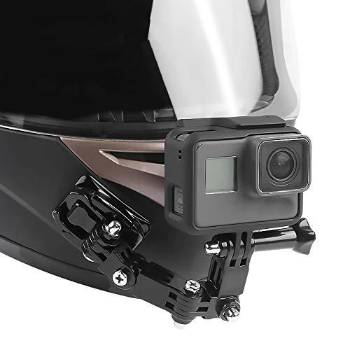 BEESCLOVER - Soporte de Barbilla para Casco de Moto GoPro Hero6/5/4, Color Negro