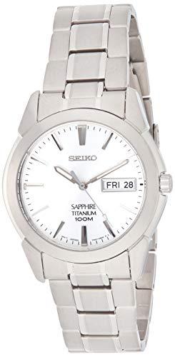 Seiko herenhorloge analoog kwarts met titanium armband - SGG727P1