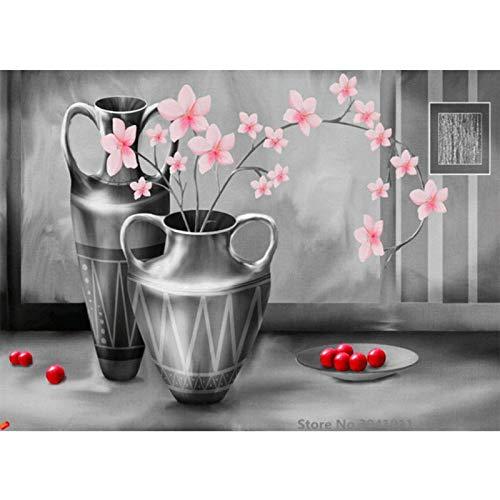 baodanla Geen frame En vaas olie door digitale canvas voor bruiloft decoratie thuis decor0