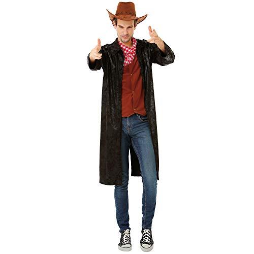 Gallant Gunslinger Men's Halloween Costume - Western Cowboy Hero Sheriff (Large)
