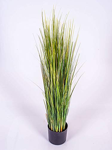 artplants.de Canna di palude Artificiale, Verde, 90cm - Cannuccia di palude Decorativa/Erba Finta