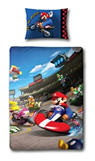 Character World 135 x 200 cm Nintendo Mario Race Single Panel Duvet Set (B007G4G1YW) | Amazon price tracker / tracking, Amazon price history charts, Amazon price watches, Amazon price drop alerts