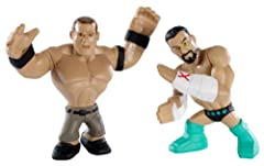Bring home the officially licensed WWE action The mightiest WWE Superstars have gone mini Includes 2 mini figures grouped together to re-create key match-ups and rivalries Features Superstar styling, 4 points of articulation and a mighty grip to hold...