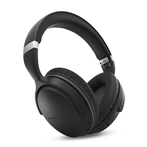 Energy Sistem Headphones BT Travel 7 ANC (Auriculares inalambricos, Active Noise Cancelling, Bluetooth, Control Talk, Foldable, Extended Battery) Negro