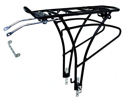 Inion MHCR08 - bagagedrager voor achterwiel, 24-28 inch fietsen. Met pomphouder, veerklep, houder voor achterlicht. incl. bevestigingsmateriaal draaglast: 25 kg framebevestiging/chiavi