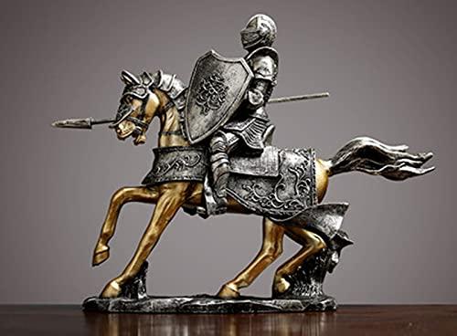 HaoLi Escultura Estatua Caballero de la Victoria Decoración Creativa Sala de Estar Europea Oficina en casa Decoración de gabinete de Vino