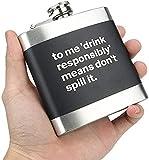 Juego de Tazas de Sake japonés, Juego, 64 oz 18/8 Field Hunt Vodka Wine Set, Llevar Whisky, Cerveza, Botella de Vino Vintage, protección de la privacidad (64 oz) (6 oz), vajilla