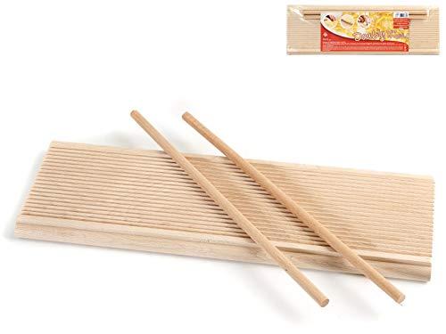 Home 9654Riga Gnocchi doppiouso, Holz, Beige, 37x 12x 2cm