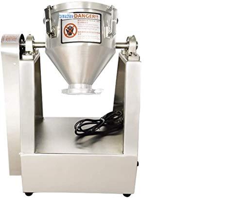txmachine Mixer Lab Trockenpulvermischer Mischmaschine Partikelmischer Pulvermischer Granulatmischer für Lebensmittelchemikalien Medical 8L Barrel (110V/60HZ)