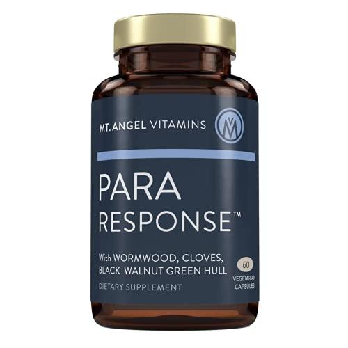 Mt. Angel Vitamins, para Response | Fiber Supplement | Colon Cleanse | Wormwood | Black Walnut & Cloves | 60 Vegetarian Capsules