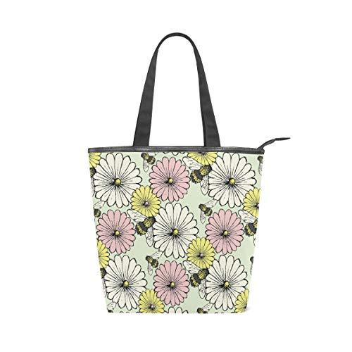 FANTAZIO Daisy-Beegreen Cavas - Bolso de mano para mujer