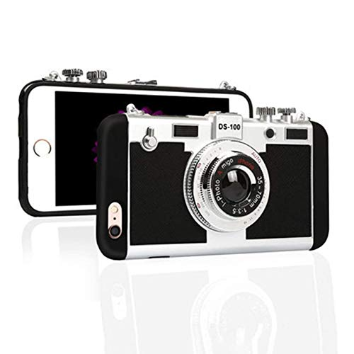 LLDH Emily in Paris 3D Silicone Phone Cases Vintage Camera for iPhone 5 6 7 8 9 X XS MAX 2020 for iPhone7plus/8plus Rose Red