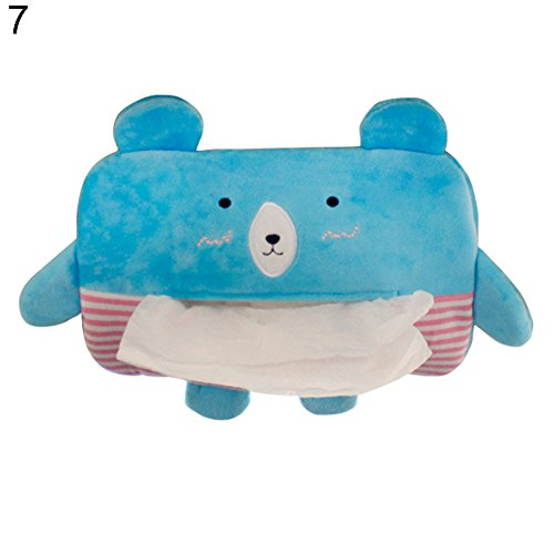 Funie Aufbewahrungsbox für Taschentücher, niedliches Cartoon-Tier-Motiv, aus Plüsch OneSize 7#