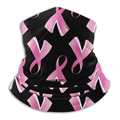 GKAOSPLSR Calentador de cuello de microfibra reutilizable para hombres y mujeres, resistente al viento, transpirable, bandana para correr, ciclismo al aire libre, cáncer de mama, cinta rosa