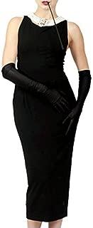 Utopiat Cotton Black Dress Women Audrey Hepburn Breakfast at Tiffany