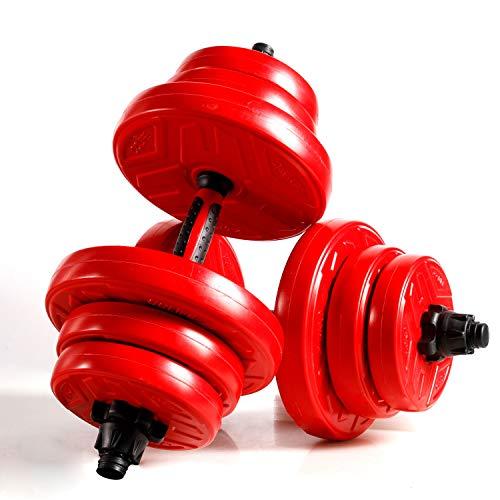 CCLIFE 2in1 Hanteln Set 2er Kurzhanteln Langhanteln verstellbar 20 30 40kg Hantelset professionell Dumbbell Verbindungsstahlrohr Gewichten