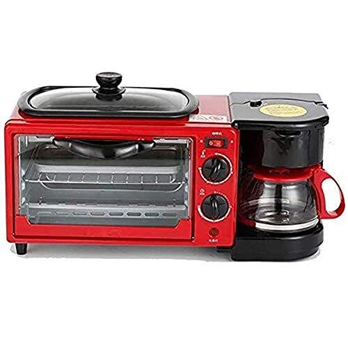 GAOJINXIURZ Waffle Maker con sartén antiadherente y cafetera de 0,6 l con mango antiescaldante, con temporizador, hornear, calefacción, descongelación, barbacoa, función wafelera placas extraíbles