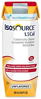 Isosource 1.5 Cal with Fiber Unflavored 250ml Brikpaks 24/Case *2 CASE SPECIAL*