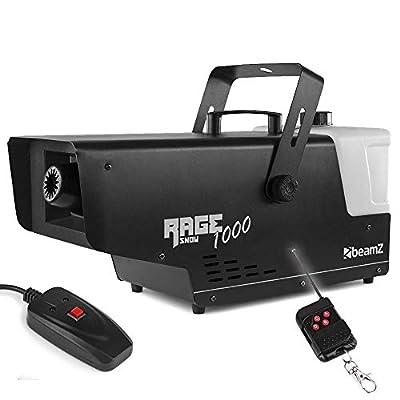 beamz RAGE 1000 Snow Effect Machine 2L Illuminated with Wireless Control *2019 Model*