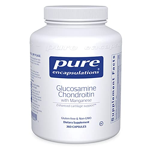 Pure Encapsulations Glucosamine Chondroitin with Manganese   Supplement for Joint Support, Comfort, Mobility, Cartilage Integrity and Health, and Connective Tissue*   360 Capsules