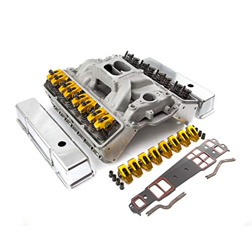 PCE by Speedmaster PCE435.1005 Fits Chevy SBC 350 Straight Plug Solid FT Cylinder Head Top End Engine Combo Kit