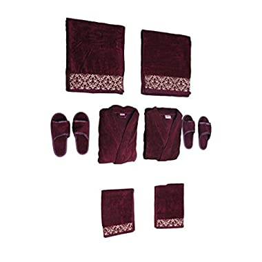 Traditional Mafia rsesbt999917 8 Piece Wedding Couple Set, Maroon