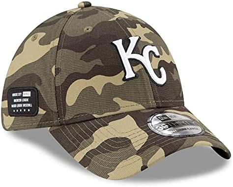 New Era 2021 MLB Memorial Day Kansas City Royals 39Thirty Flex Fit Hat Armed Forces Day Collection Size: Small/Medium