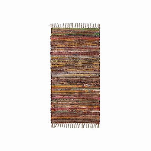 mynes Home Flickenteppich Fleckerlteppich Bunt in verschieden Größen (65x130cm)