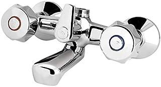 💧 🚰 GS Mercury Bath Mixer Without Diverter - Dual Brass Chromed Handles Chrome