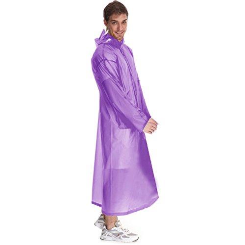 Vestes anti-pluie QFF Raincoat léger Voyage pour Adultes Extérieur en Pied Imperméable à l'eau translucide imperméable Homme et Femme (Couleur : Violet)