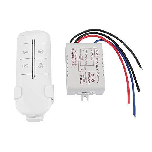 RF Fernbedienung Schalter 1/2/3/4 Möglichkeiten EIN/AUS AC180-240V 1000W Wireless Receiver Lampe Licht(MR703)