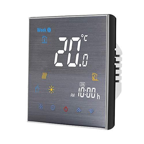 Decdeal WiFi Smart Thermostat für Wasserheizung Digital Temperaturregler großes LCD Display Touch Button Voice Control Kompatibel mit Amazon Echo/Google Home/Tmall Genie/IFTTT
